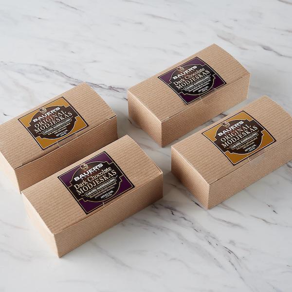 8oz Kraft Pinstripe Boxes of Original Modjeskas
