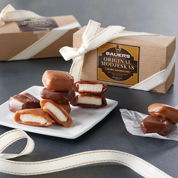 8oz Kraft Pinstripe Boxes of Original Modjeskas Bauers Candy